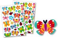 Gommettes papillons - Gommettes fantaisie - 10doigts.fr