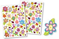 Gommettes fleurs - Gommettes fantaisie - 10doigts.fr