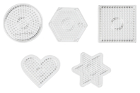 Plaques transparentes pour perles fusibles - Set de 5 - Perles fusibles 5 mm - 10doigts.fr