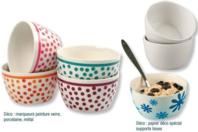 Bols en porcelaine blanche - Lot de 20 bols - Supports en Céramique et Porcelaine - 10doigts.fr