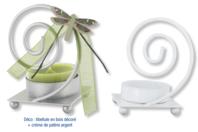 Bougeoir spirale en métal blanc - Bougeoirs et photophores - 10doigts.fr
