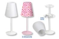 Lampe photophore en métal apprêté en blanc - Métal - 10doigts.fr