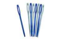 Aiguilles en plastique à bouts arrondis - Laine - 10doigts.fr