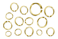 Anneaux ronds brisés dorés - diamètres au choix - Anneaux simples ou doubles, ronds ou ovales - 10doigts.fr