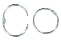 Anneaux métalliques argentés à clip - Lot de 10 - Porte-clefs, Anneaux, Mousquetons - 10doigts.fr
