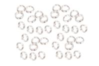 Anneaux doubles ronds argentés - 100 pièces - Anneaux simples ou doubles, ronds ou ovales - 10doigts.fr