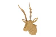 Trophée tête d'antilope à assembler - Déco murale Trophée - 10doigts.fr