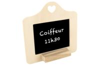 Cadre ardoise avec forme coeur et repose craie - Ardoises - 10doigts.fr