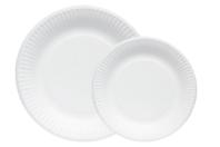 Assiettes en carton blanc - Anniversaires - 10doigts.fr