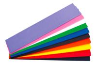 Feuilles de papier crépon, 10 couleurs assorties - Papiers de crépon - 10doigts.fr