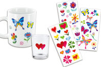 Stickers en plastique pour céramique, verre et métal - Stickers pour céramique - 10doigts.fr