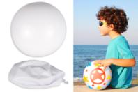 Ballon en PVC blanc à décorer - Support blanc - 10doigts.fr