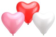 Ballons coeurs, couleurs assorties - set de 100 - Ballons, guirlandes, serpentins - 10doigts.fr