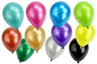 Ballons ronds, couleurs métallisées - Set de 100 - Ballons, guirlandes, serpentins - 10doigts.fr