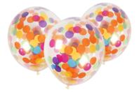 Ballons confettis - set de 6 - Ballons, guirlandes, serpentins - 10doigts.fr