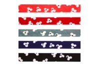 Biais coton fleurs - Set de 5 - Rubans et cordons - 10doigts.fr