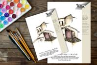 Papier blanc pour aquarelle - Bloc de 10 feuilles - Peinture Aquarelle - 10doigts.fr