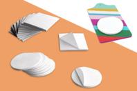 Blocs notes rond ou carré - Lot de 6 - Support blanc - 10doigts.fr