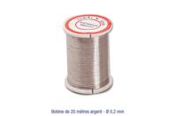 Fil métal argent 0.2 mm - 20 mètres - Fils aluminium à modeler - 10doigts.fr