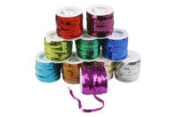 Bobines de rubans pailletés - Set de 10 couleurs - Rubans et cordons - 10doigts.fr