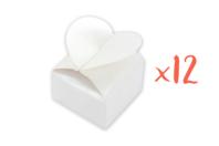 Boîtes à dragées cœur à monter - Lot de 12 - Boîte - 10doigts.fr