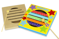 Boîte à rythme en bois + maillet - Instruments de musique - 10doigts.fr