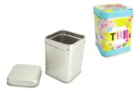 Boîte à thé en métal 8 cm - Supports en Métal - 10doigts.fr