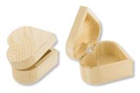Boîte coeur en bois, avec fermeture aimantée - Boîtes et coffrets - 10doigts.fr