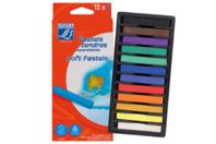 Pastels tendres aquarellables LEFRANC BOURGEOIS - Boîte de 12 - Pastels et Fusains - 10doigts.fr