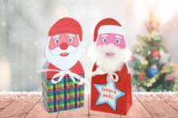 Boîte Père Noël en carte forte blanche - Kits et Activités de Noël - 10doigts.fr