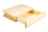 Boîte tiroir livre en bois - Boîtes et coffrets - 10doigts.fr