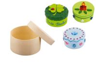 Boîte ronde en bois - Boîtes et coffrets - 10doigts.fr