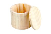 Boite ronde avec couvercle en bois - Boîtes et coffrets - 10doigts.fr