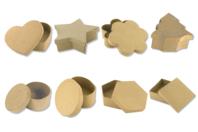 Grand choix de boîtes en carton papier mâché - Boîtes en carton - 10doigts.fr