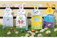 Boîtes lapins de Pâques à décorer - Pâques - 10doigts.fr