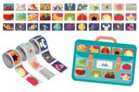 Bons points adhésifs - 425 stickers (3 rouleaux) - Gommettes Histoires et décors - 10doigts.fr