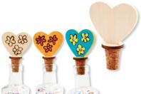 Bouchons cœurs en liège - Lot de 12 - Divers - 10doigts.fr