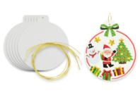 Boule de Noël en carton blanc - Décoration du sapin - 10doigts.fr