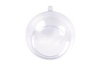 Boule plastique ouverte - 8 cm - Plastique Transparent - 10doigts.fr
