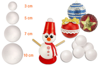 Boules en polystyrène - Noël - 10doigts.fr