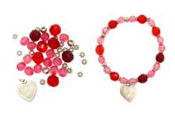 Bracelet rose à facettes - Kit pour 1 bracelet - Bijoux, bracelets, colliers - 10doigts.fr