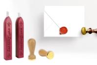 Sceau coeur + 2 bâtons de cire - Tampons classiques - 10doigts.fr