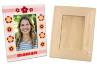 Cadre photo en bois avec vitre 23 x 18 cm - Cadres photos - 10doigts.fr