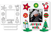 Cadres photo Noël à colorier - Lot de 8 - DESTOCKAGE - 10doigts.fr