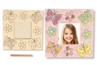 Cadre photo en bois à colorier - Cadres photos - 10doigts.fr