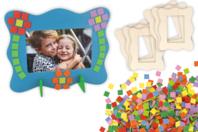 Cadres mosaïques - Kit pour 6 réalisations - Kits Supports et décorations - 10doigts.fr
