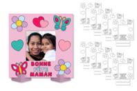 """Cadres photo à colorier """"Bonne fête Maman"""" - Lot de 8 - Coloriages - 10doigts.fr"""