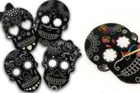 Masques à gratter tête de mort - Set de 4 - Mardi gras, carnaval - 10doigts.fr