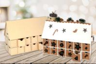 Chalet calendrier de l'avent - Noël - 10doigts.fr