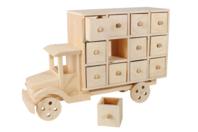"""Calendrier de l'avent en bois """"Camion"""" - Calendrier de l'avent - 10doigts.fr"""